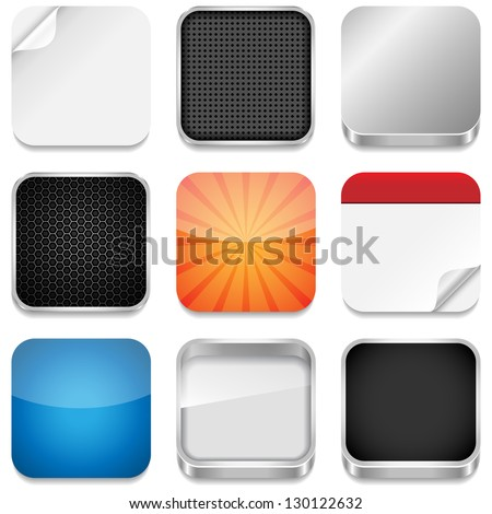 App Icon Templates - Vector backgrounds for app icons.  Eps10 file with transparency.