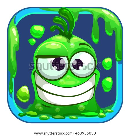 app icon with funny green slimy