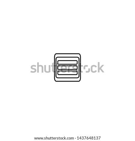 App menu icon. Web grid design symbol