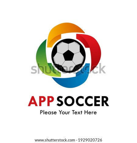 App soccer logo template illustration