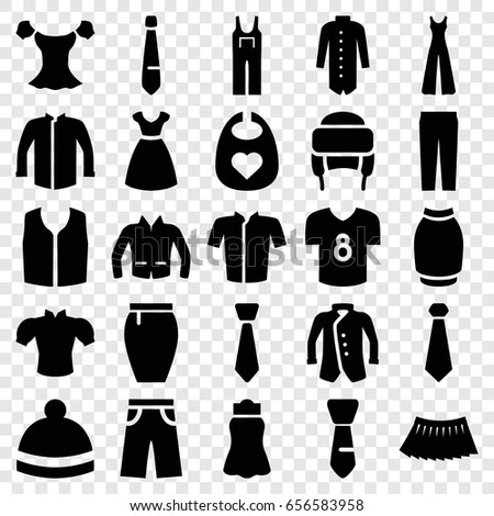 apparel icons set set of 25