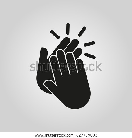 Applause icon. Clap, plaudits, standing ovation symbol. Flat design. Stock - Vector illustration