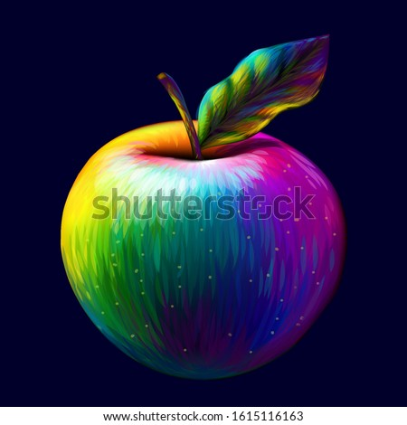 apple abstract  multi colored