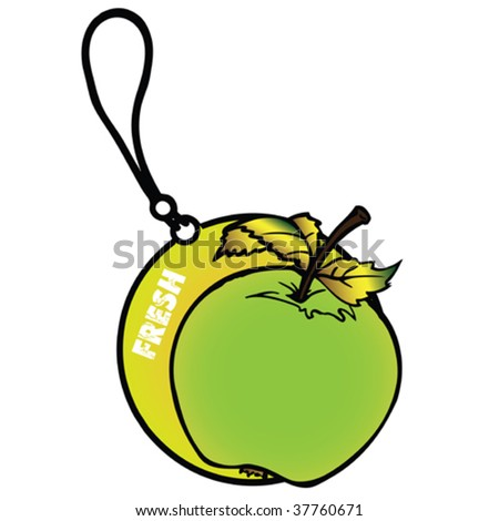 Apple Air Freshener - stock vector