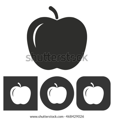 apple   black and white icons