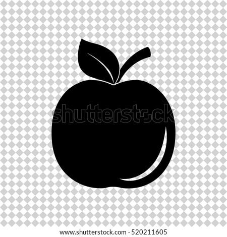 apple   black  vector icon