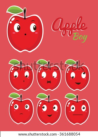 apple boy cute emoticons