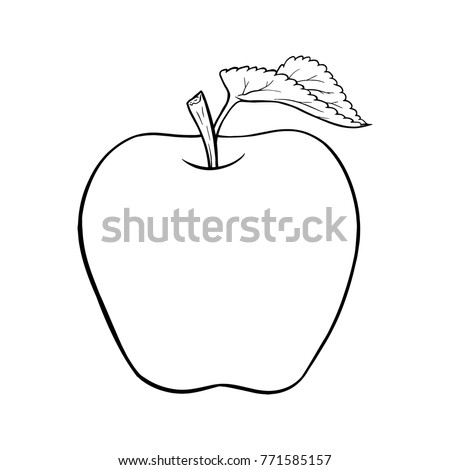 apple cartoon line art  vector