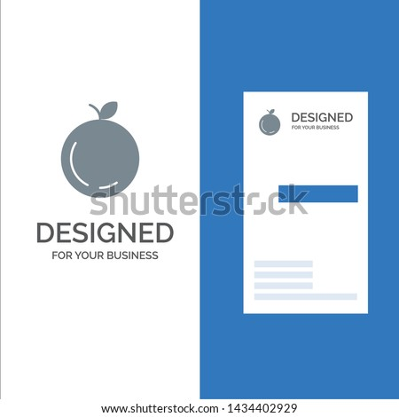 Apple, China, Chinese Grey Logo Design and Business Card Template