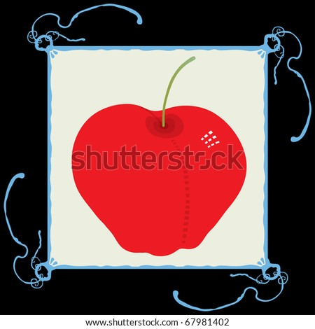 apple clean red illustration - stock vector