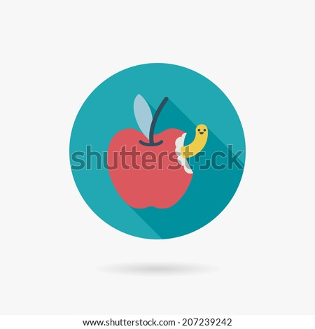 Apple Flat long shadow icon