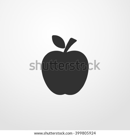 apple fruit icon illustration