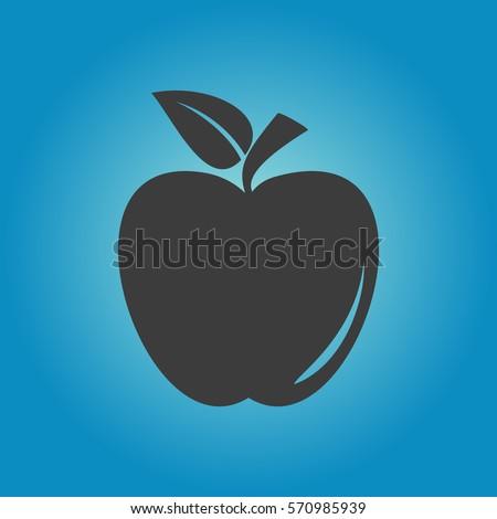 apple icon flat vector