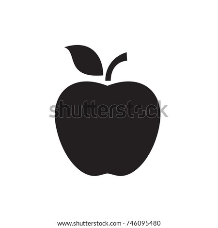 apple icon illustration isolated vector sign symbol