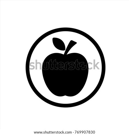 apple icon in trendy flat style isolated on background. apple icon page symbol for your web site design apple icon logo, app, UI. icon Vector illustration, EPS10.