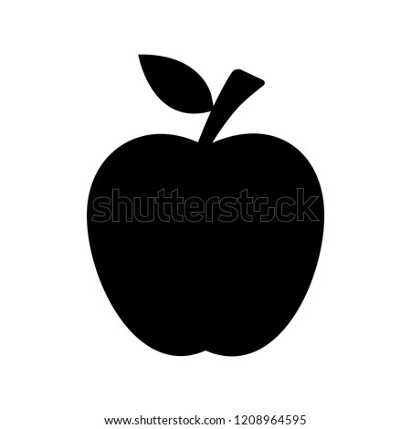 Apple Icon in trendy flat style isolated on grey background. Apple Icon page symbol for your web site design Apple Icon logo, app, UI. Apple Icon Vector illustration, EPS10