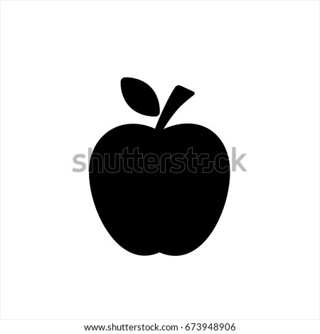 Apple Icon in trendy flat style isolated on grey background. Apple Icon page symbol for your web site design Apple Icon logo, app, UI. Apple Icon Vector illustration, EPS10.