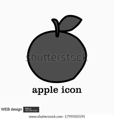 Apple icon in trendy flat style with background.