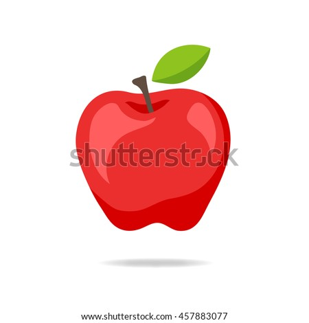 apple icon isolated on the