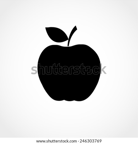 apple icon isolated on white