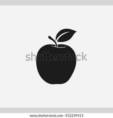 apple  icon one of set web