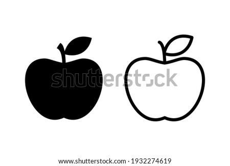 Apple icon set. Apple vector icon. apple symbols for your web design
