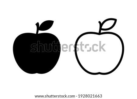 Apple icon set. Apple vector icon.s apple symbols for your web design