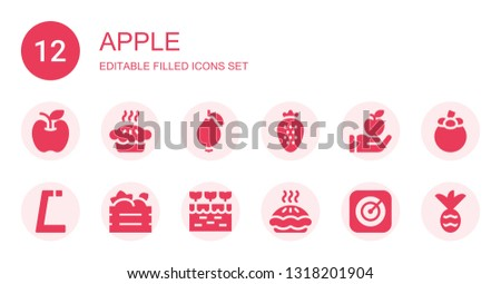 apple icon set collection of