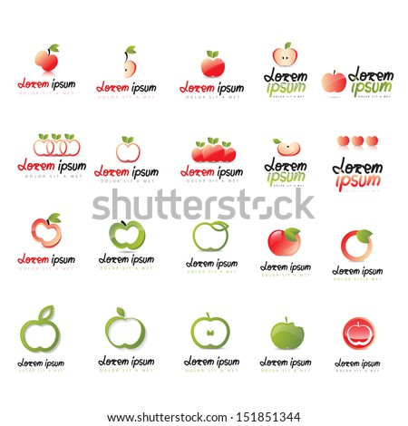 apple icons set   isolated on