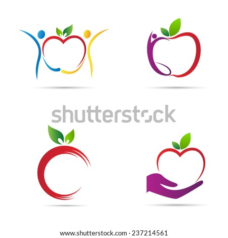 apple icons vector design