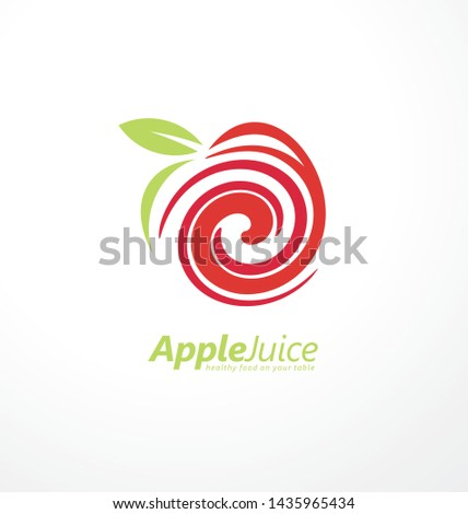 apple juice logo design concept
