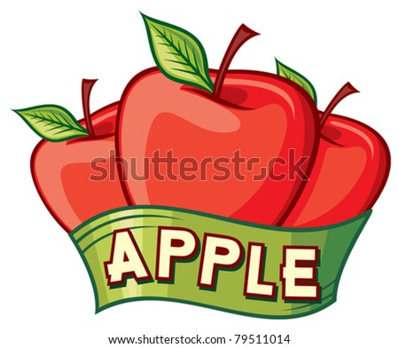 apple label design