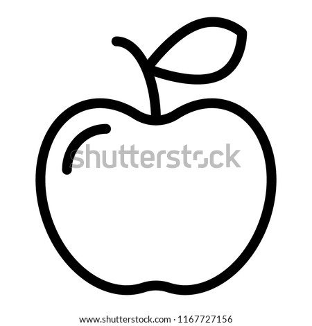 Apple line icon. Fruit vector illustration isolated on white. Vitamin outline style design, designed for web and app. Eps 10.
