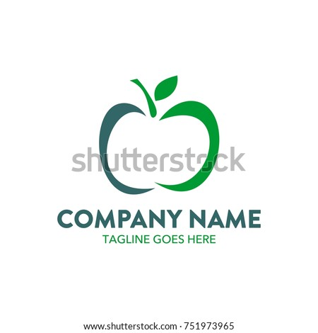 apple logo editable vector