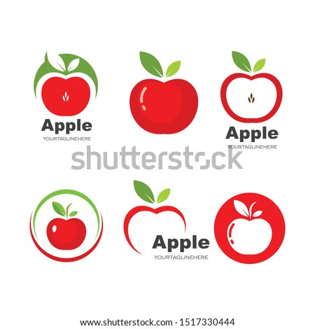 apple logo icon vector