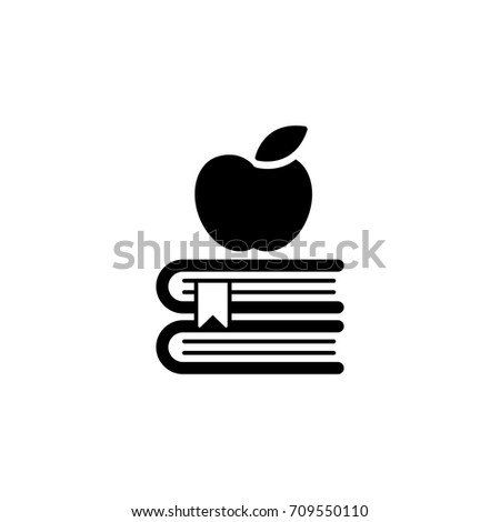 apple on the books with...