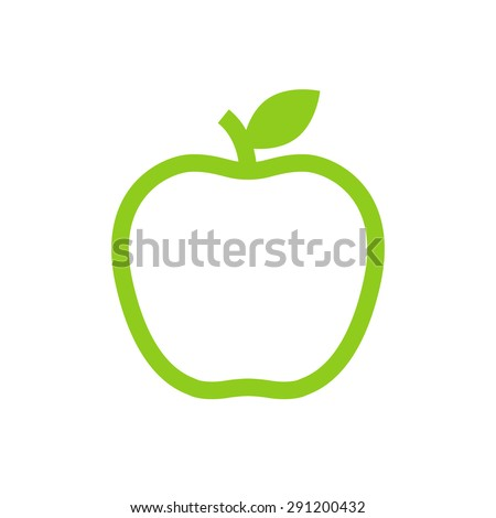 apple outline icon  modern