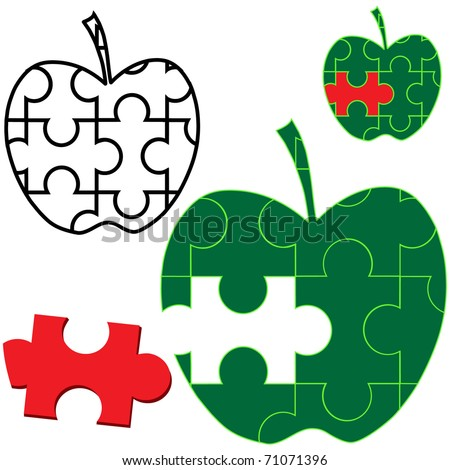 Apple Puzzle Printable Apple Puzzle