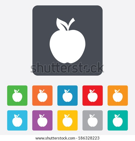 apple sign icon fruit with