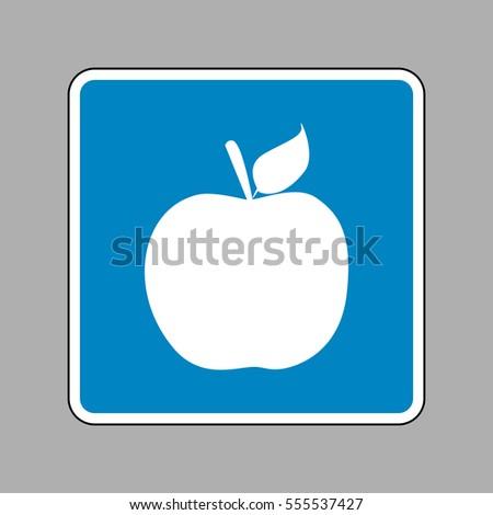apple sign illustration white