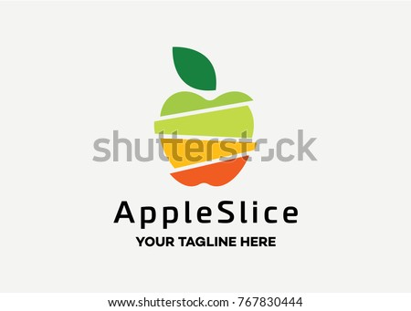apple slice logo template