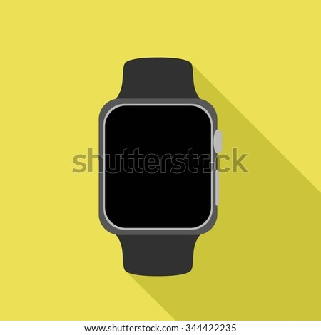 apple smart watch vector icon