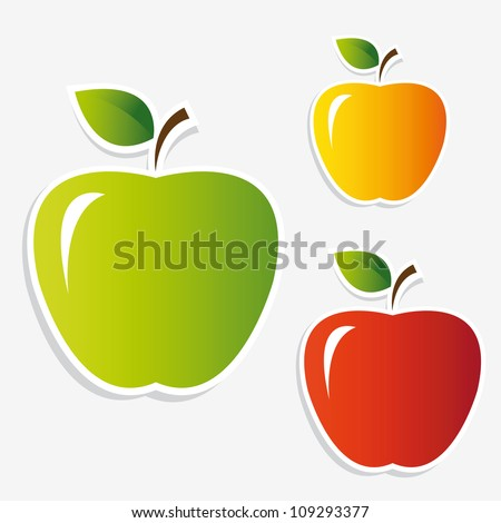 apple stickers set
