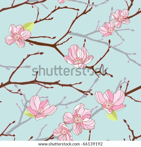 Apple-tree seamless background