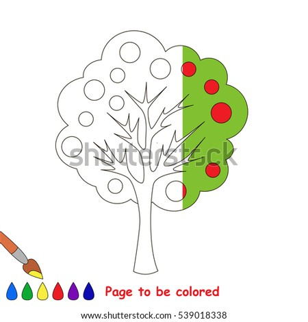 apple tree to be colored  the