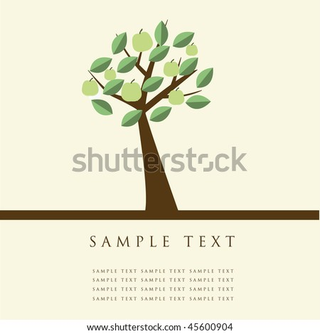Apple trees. Vector illustration.