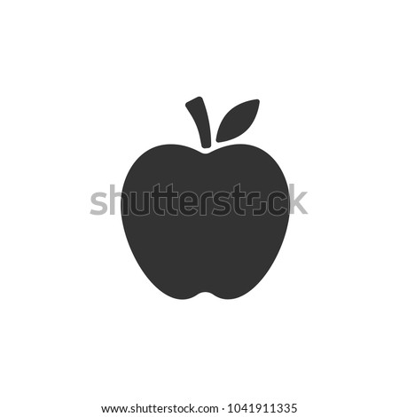 apple vector icon apple fruit