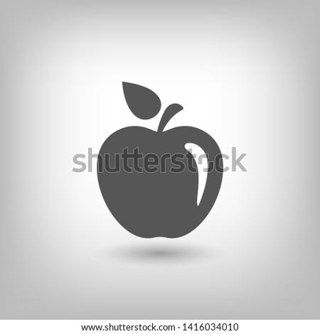 Apple vector icon. Apple fruit illustration icon.Web design vector logo. Apple isolated on background