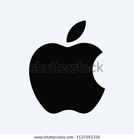 Apple vector icon. Apple logo symbol. iPhone sign, flat vector element isolated on white background. Simple vector illustration for graphic and web design.