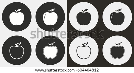 apple vector icons set